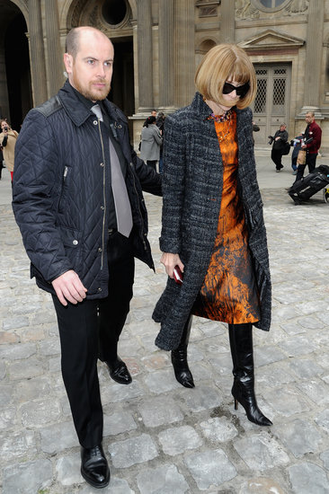 Anna Wintour arrived at Louis Vuitton.