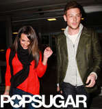 Lea Michele and Cory Monteith stepped out side by side.