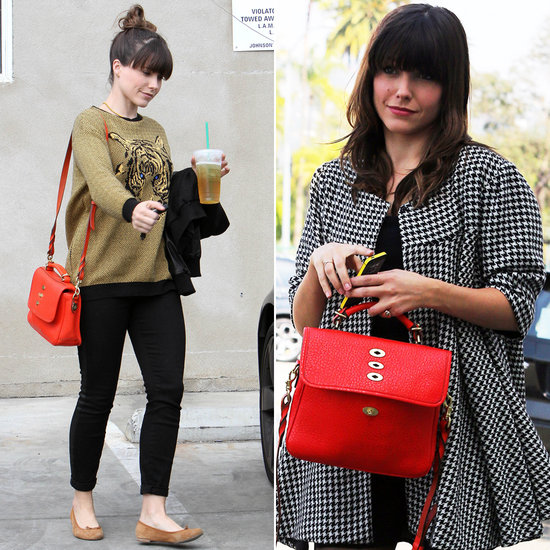 In Love With . . . Sophia Bush's Bright Red Mulberry Bag