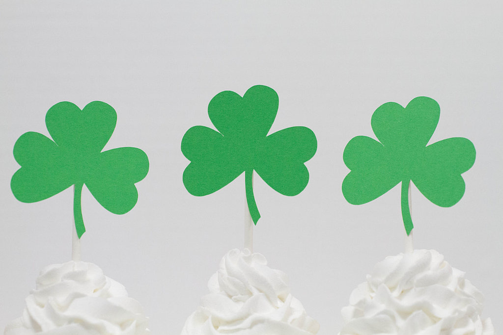 Pink Poppy Party Shoppe Shamrock Cupcake Toppers