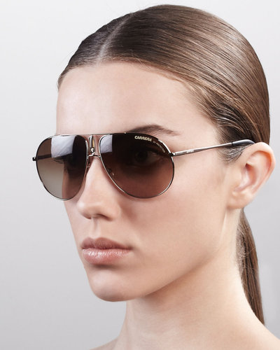 Carrera Aviator Sunglasses, Shiny Gold