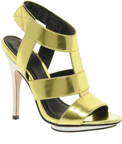 ASOS HALLEY Metallic High Heel Sandals