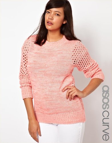 ASOS CURVE Exclusive Sweater In Open Stitch