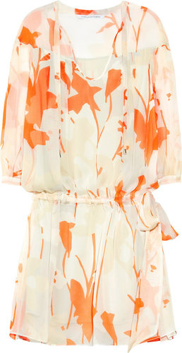 Diane von Furstenberg New Desma printed silk-chiffon mini dress