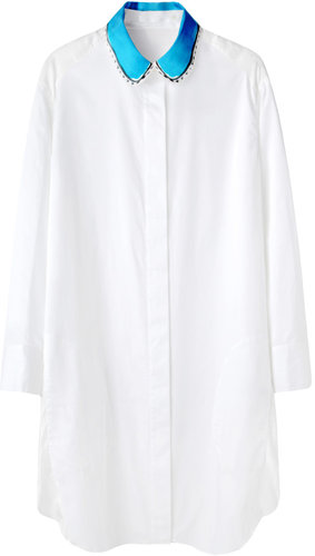 Tsumori Chisato / Contrast Collar Shirtdress