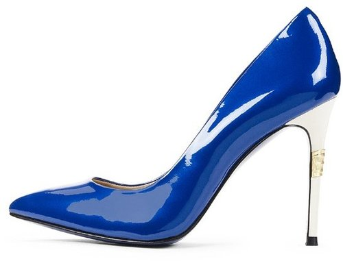 Rihanna in Electric Blue Jimmy Choo Anouk Pointed Toe Pumps
