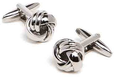 Silver Knot Cuff Links
