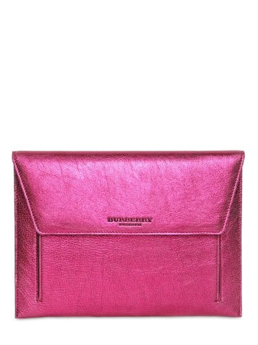Burberry Prorsum - Soft Grainy Metallic Leather Ipad Case