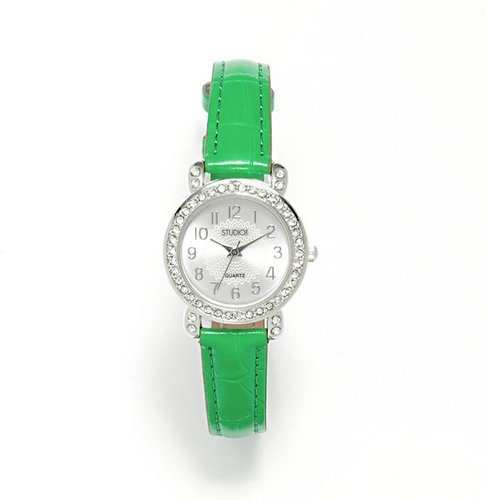 Studio time simulated crystal watch - women