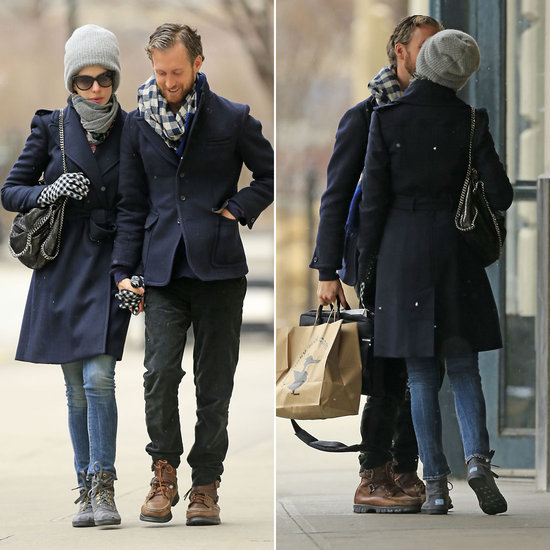 Anne and Adam Celebrate Their Return to Brooklyn With Kisses