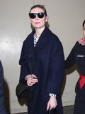 Kirsten Dunst landed in LA on Wednesday after Paris Fashion Week.