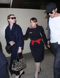 Kirsten Dunst and Garrett Hedlund Return Home From Their French Fashion Fun