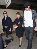 Kirsten Dunst and Garrett Hedlund made their way through LAX.