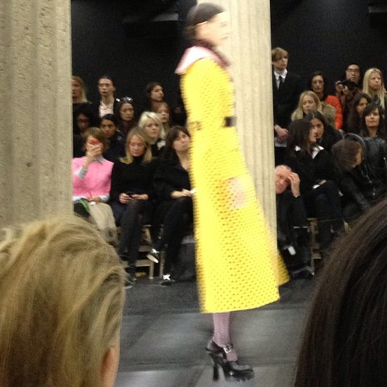 Bright yellow polka dots from Miu Miu.