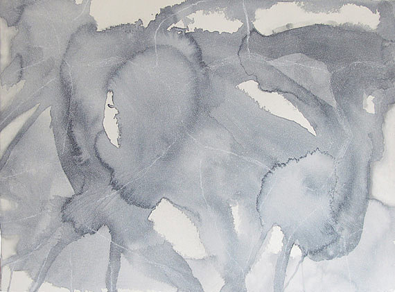 """While visiting a wonderful, friendly little gallery called Marine Contemporary here in Venice, I came across Debra Scacco's large-scale watercolors. She incorporates obsessively detailed formations of text within large washes of paint in such a beautiful way. Her work explores ideas of home, memory, and displacement in a way that speaks to me."""