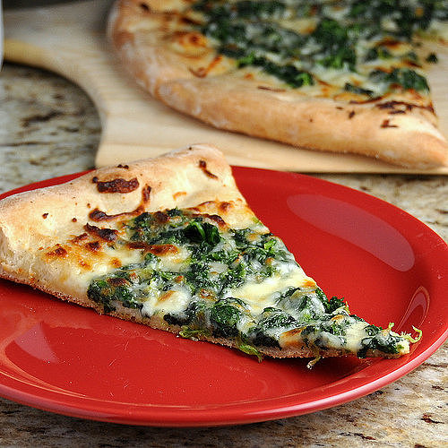 Spinach Alfredo Pizza