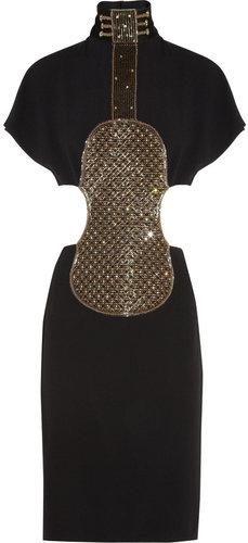 Chloé Embellished crepe violin dress