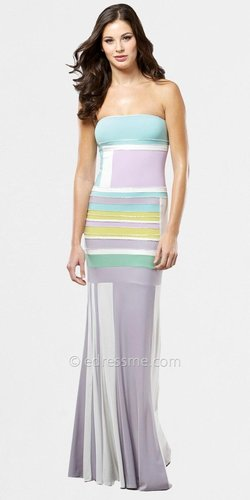 Geometric Color Block Evening Dresses by Mignon