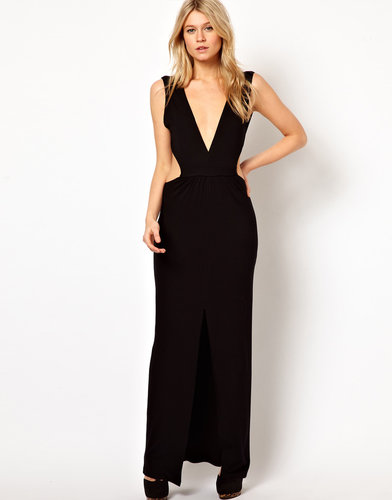 Love Maxi Dress With Plunge Neck and Cut Out