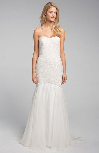 Theia Sequin Strapless Mermaid Gown