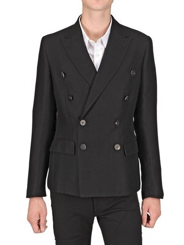 Christian Pellizzari - Croco Jacquard Wool Flannel Jacket