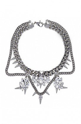Fallon Jewelry Classique Crystal Bib | DIANI Women's Designer Clothing and Shoe Boutique | Shop Online at dianiboutique.com
