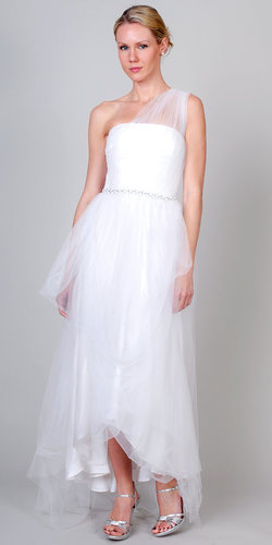 Tulle Gown with Gemmed Waistband by Love, Yu