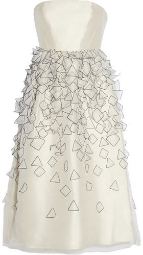 Tibi Appliquéd silk-organza dress