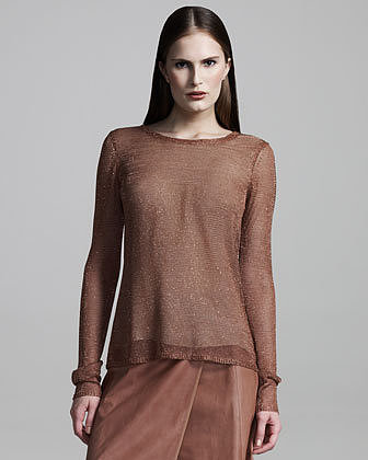 Reed Krakoff Shimmery Mesh Top