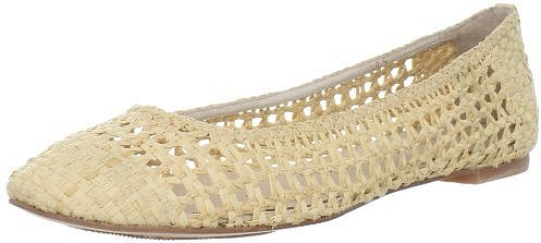 ALL BLACK Women's Raffia Weave Ballet Flat