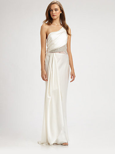 ABS Asymmetrical Silk Gown