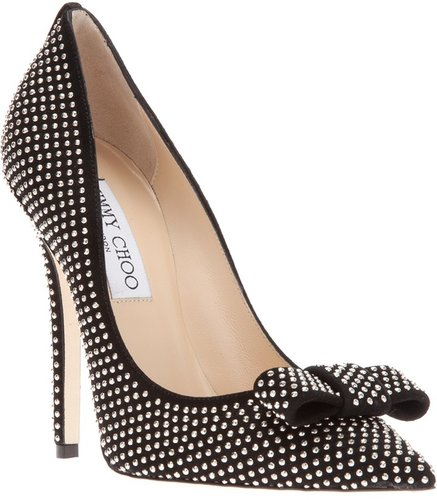 Jimmy Choo bow detail pump