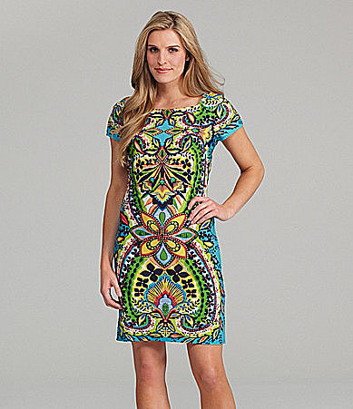 Sunny Taylor Paisley-Print Sheath Dress
