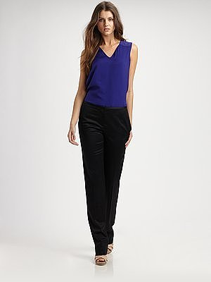 Reed Krakoff Double Layer Silk Chiffon Top