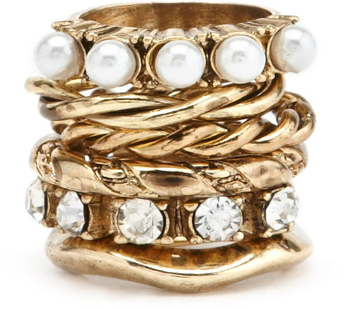 Dainty Mix Stacked Rings