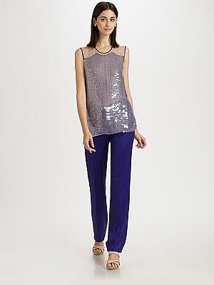 Reed Krakoff Python Lux Embroidery Beaded Shell Top