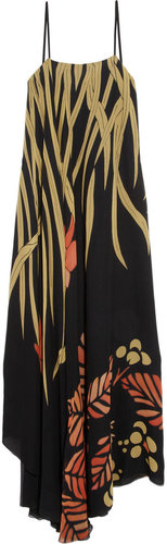 Chlo Printed silk maxi dress