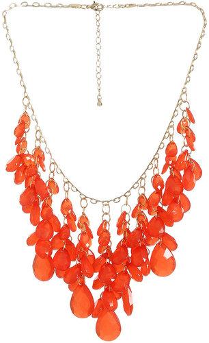 Gemstone Drop Statement Necklace