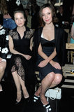 Renée Zellweger and Rebecca Hall sat next to each other at Miu Miu.
