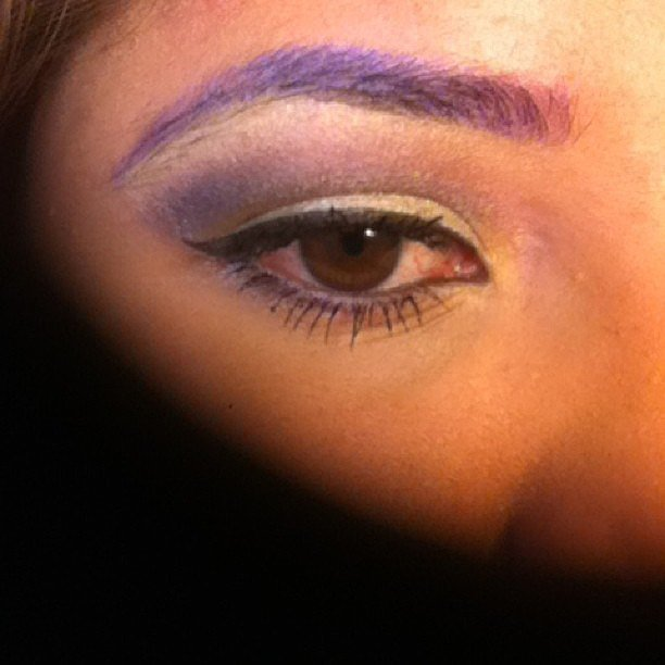 Purple eyebrows offered an unexpected dose of color, but are you brave enough to try out this look? Source: Instagram user ang_ella