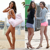 Alessandra Ambrosio and Adriana Lima Pair Up For a Sexy Beach Shoot