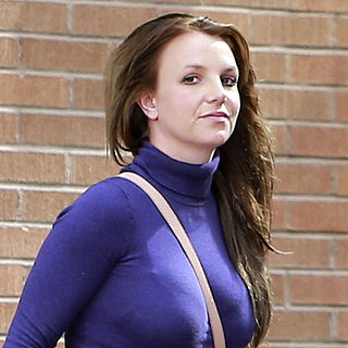 Britney Spears in a Purple Turtleneck | Pictures