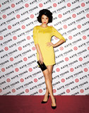 Lily Kwong evoked a serious retro vibe in this embellished yellow minidress in the Kate Young For Target campaign.