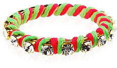 Ettika Rhinestone and Neon Thread Bangle