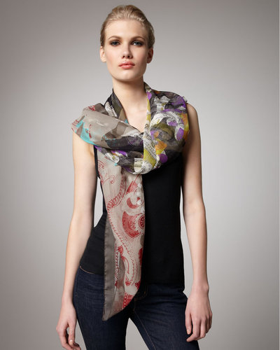Etro Abstract-Print Silk Stole