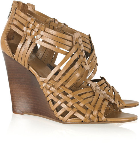 Tory Burch Tevray braided leather wedge sandals