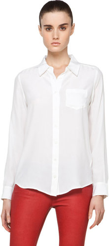 Equipment Brett Blouse in Bright White