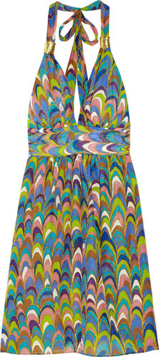 Milly Nevis printed linen and cotton-blend dress