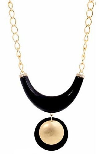 Belle Noel Signature Necklace with Gold Disc Pendant