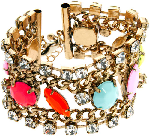 ASOS Color Stone Chain Bracelet